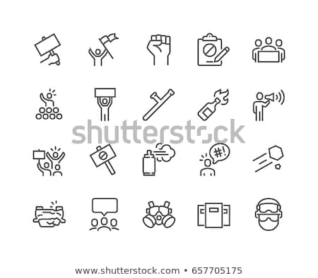 Protest icons Stock photo © lkeskinen