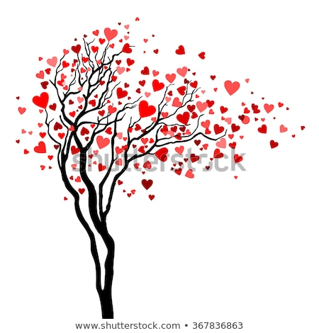 couple with heart tree vector background stock photo © beaubelle