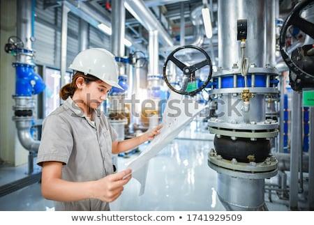 lucht · voorwaarde · metaal · pijpen · ventilator · muur - stockfoto © photography33