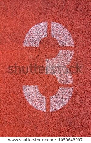 Lopen track aantal 16 voetbal verf Stockfoto © kawing921