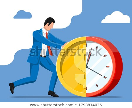 Businessman pushed for time Stock photo © photography33