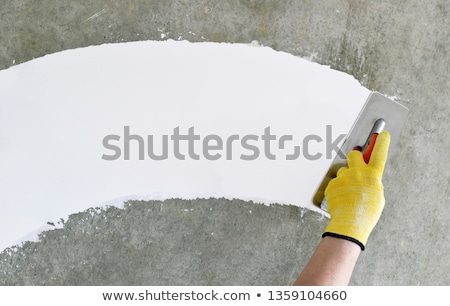 cement mortar grout on wall improvement stock photo © lunamarina