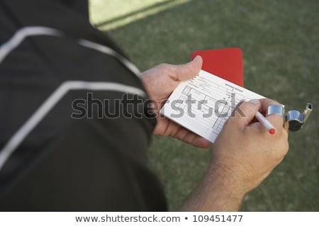 Döntőbíró ír kártya női nők sport Stock fotó © pedromonteiro