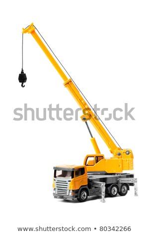 kraan · vrachtwagen · haak · geïsoleerd · witte · hemel - stockfoto © foka