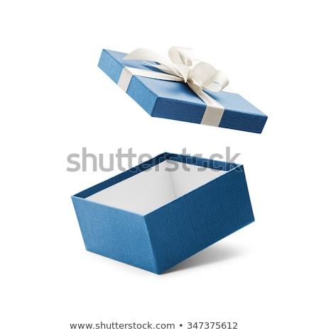 подарок · грубая · оберточная · бумага · пустую · карту · шкатулке · простой · розовый - Сток-фото © mariematata