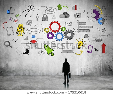 Flow Chart with gears and graph analyzing Stock photo © 4designersart
