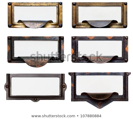 Old File Drawer Frames With Blank Labels Stock photo © 3mc