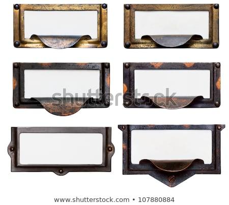 öreg akta fiók keret címkék gyűjtemény Stock fotó © 3mc