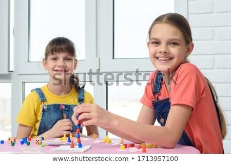 Zwei Freunde Rahmen glücklich Bildung Studenten Stock foto © photography33