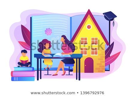 Crianza de los hijos plan libro educación familia nino Foto stock © stuartmiles