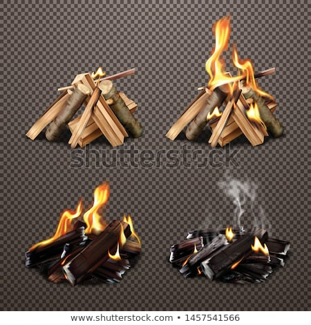 Wood by the Campfire Stock photo © mybaitshop