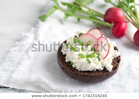 fresh bread with herb curd dinner Stock photo © juniart