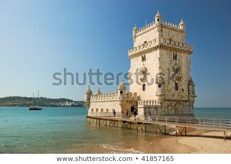 kule · simge · Lizbon · Portekiz · gökyüzü · su - stok fotoğraf © serpla