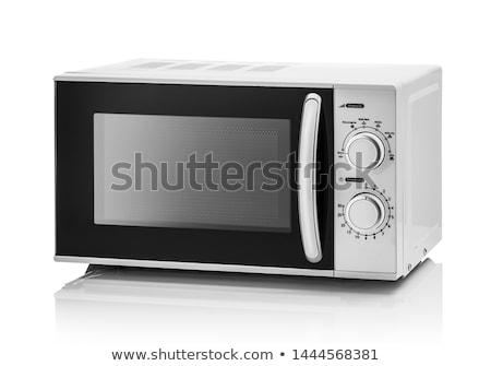 mikrodalga · fırın · yalıtılmış · beyaz · teknoloji · Metal - stok fotoğraf © ozaiachin