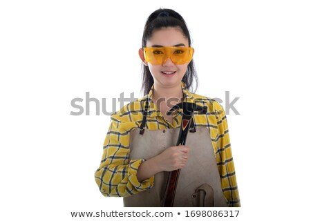 Female construction worker holding a mallet Stock photo © photography33