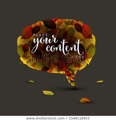 balão · de · fala · outono · colorido · lugar · abstrato · natureza - foto stock © orson