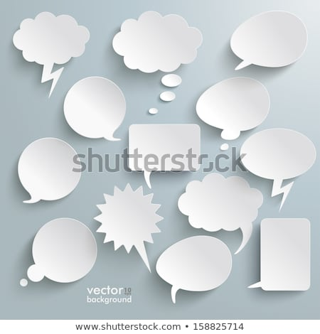 Set of vector paper Comic Clouds and bubbles  stock photo © orson