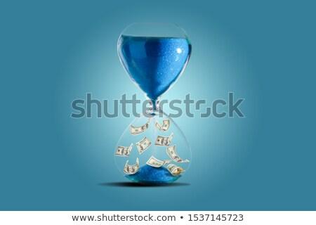 Tijd is geld 3D wekker permanente geld klok Stockfoto © tashatuvango