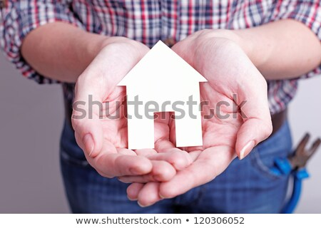 álom otthon védett szeretet család ház Stock fotó © OleksandrO