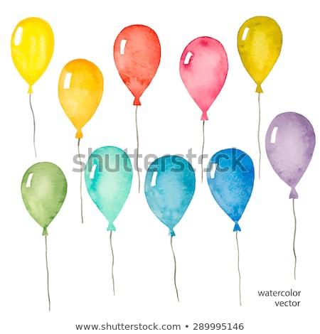 ballonnen · schone · witte · partij · verjaardag · Rood - stockfoto © vlad_star