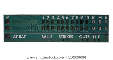 vintage · beisebol · scoreboard · retro · jogar - foto stock © oscarcwilliams