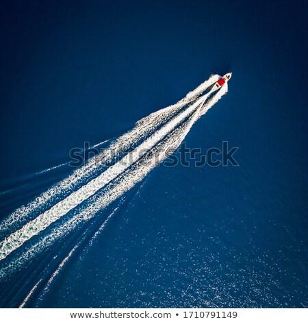 судно · трек · морем · Хорватия · небе · пейзаж - Сток-фото © Alenmax
