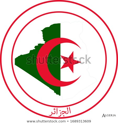 Algeria rosette flag Stock photo © milsiart