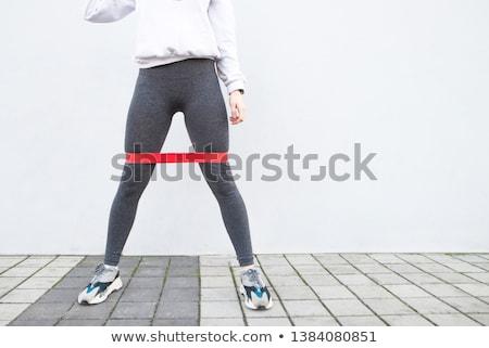 Portré nőies lábak fehér szépség láb Stock fotó © wavebreak_media
