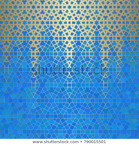 background with glass and geometric designs in gold Stock photo © yurkina