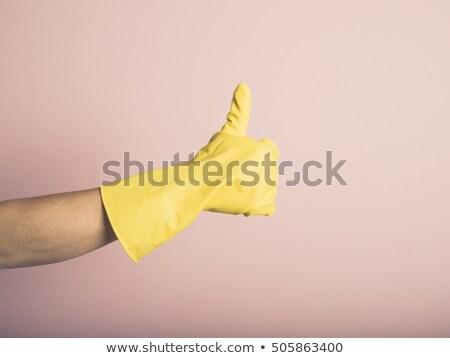 женщины стороны резиновые перчатка большой палец руки вверх Сток-фото © wavebreak_media