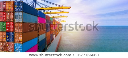 Foto stock: Shipping In Singapore