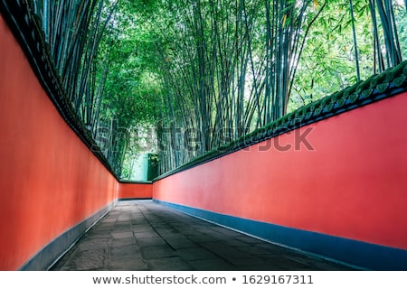 Ancient Zhuge Liang Memorial Temple Sichuan China Stock photo © billperry