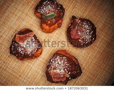 ストックフォト: 4 · 装飾された · 花 · 食品