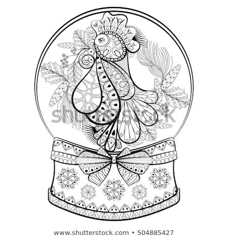 взрослый петух красивой петух профиль лист Сток-фото © RuslanOmega