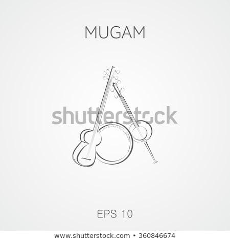 смола музыкальный строку инструмент изолированный белый Сток-фото © eldadcarin