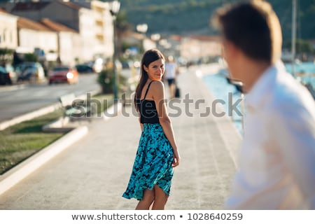 back of an attractive woman stock photo © iofoto