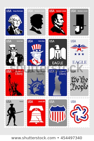 Stock photo: Uncle Sam USA  postage stamp