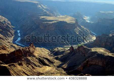 Balık nehir kanyon Namibya görmek gökyüzü Stok fotoğraf © TanArt