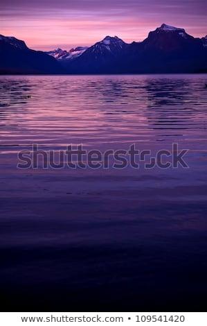 Lac glacier parc Montana pêche Photo stock © billperry