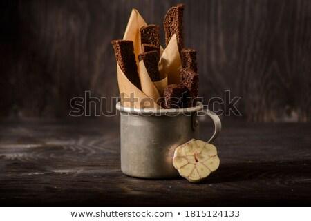 zout · knoflook · groep · brood · kleur · salade - stockfoto © zhekos