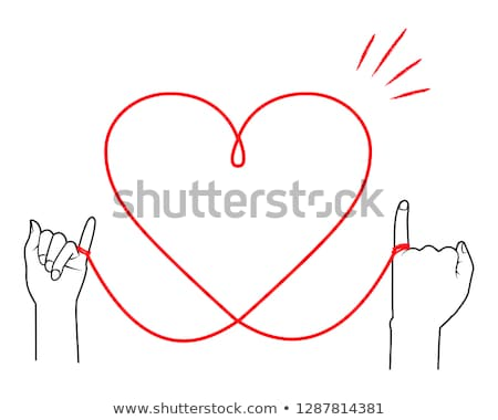 Heart out of string Stock photo © kbuntu