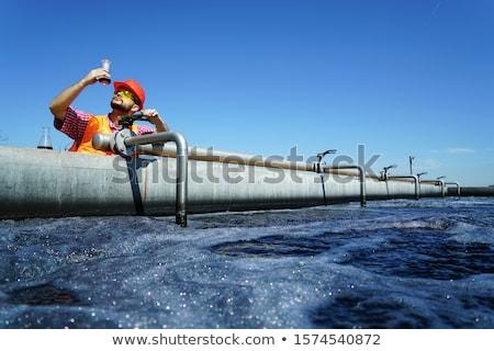Szennyezés víz ipar gyár tiszta szemét Stock fotó © leungchopan