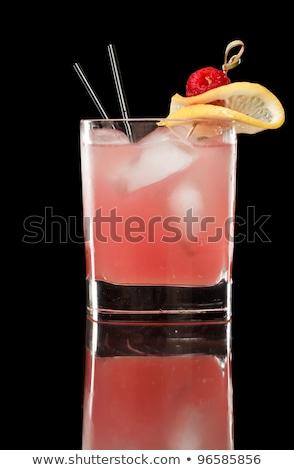 rose · cocktail · citron · garnir · sucre · jante - photo stock © 805promo