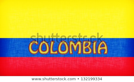 Flag of Colombia stitched with letters Stock photo © michaklootwijk