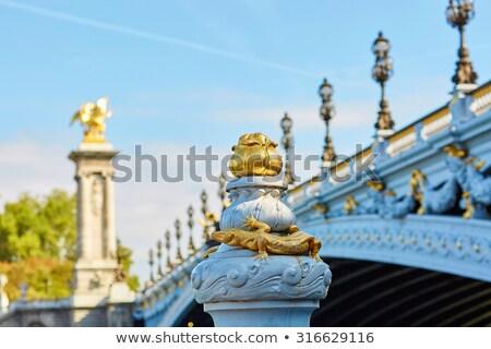 Pont Alexandre III detail in Paris. Stock photo © aladin66