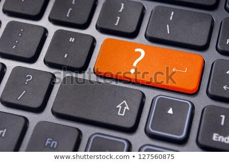 ponto · de · interrogação · chave · máquina · de · escrever · branco · máquina · vintage - foto stock © stevanovicigor
