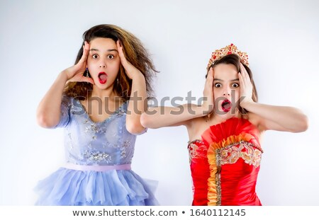 Young cutie with fancy make-up Stock photo © konradbak