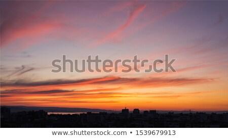 Ardente tramonto cielo estate grandangolo view Foto d'archivio © BSANI