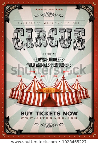 Circus Vintage Poster Big Top Stock photo © benchart