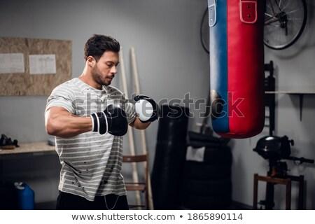 Savaşçı eğitim garaj spor ev uygunluk Stok fotoğraf © nickp37